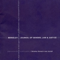 Berkeley Journal of Gender, Law, and Justice, Volume 33, 2018